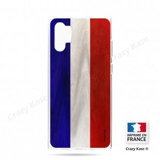 Coque compatible Galaxy Note 10 Plus souple Drapeau Français Vintage- Crazy Kase
