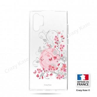 Coque compatible Galaxy Note 10 Plus souple Fleurs et papillons -  Crazy Kase