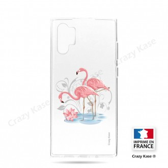 Coque compatible Galaxy Note 10 Plus souple Flamant rose - Crazy Kase