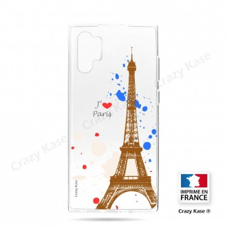 Coque compatible Galaxy Note 10 Plus souple Paris - Crazy Kase