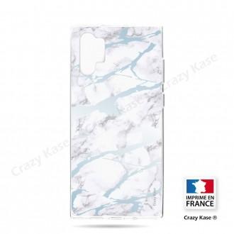 Coque compatible Galaxy Note 10 Plus souple effet Marbre bleu - Crazy Kase