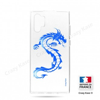 Coque compatible Galaxy Note 10 Plus souple Dragon bleu - Crazy Kase