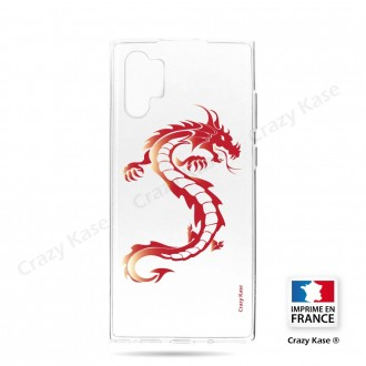 Coque compatible Galaxy Note 10 Plus souple Dragon rouge - Crazy Kase