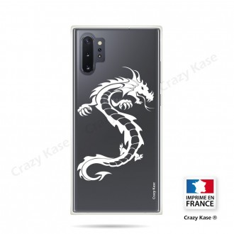 Coque compatible Galaxy Note 10 Plus souple Dragon Blanc - Crazy Kase