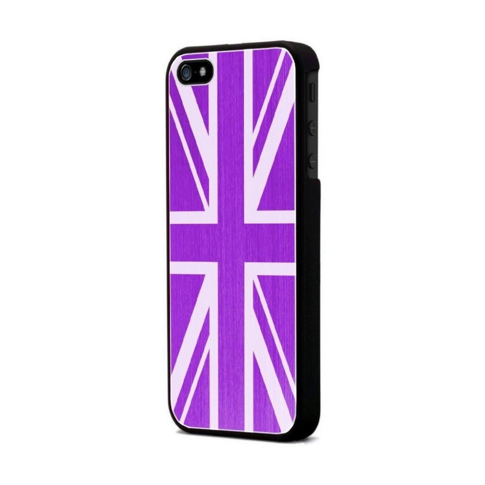 Coque Moxie Aluminium brossé fushia drapeau Angleterre pour Apple iPhone 5