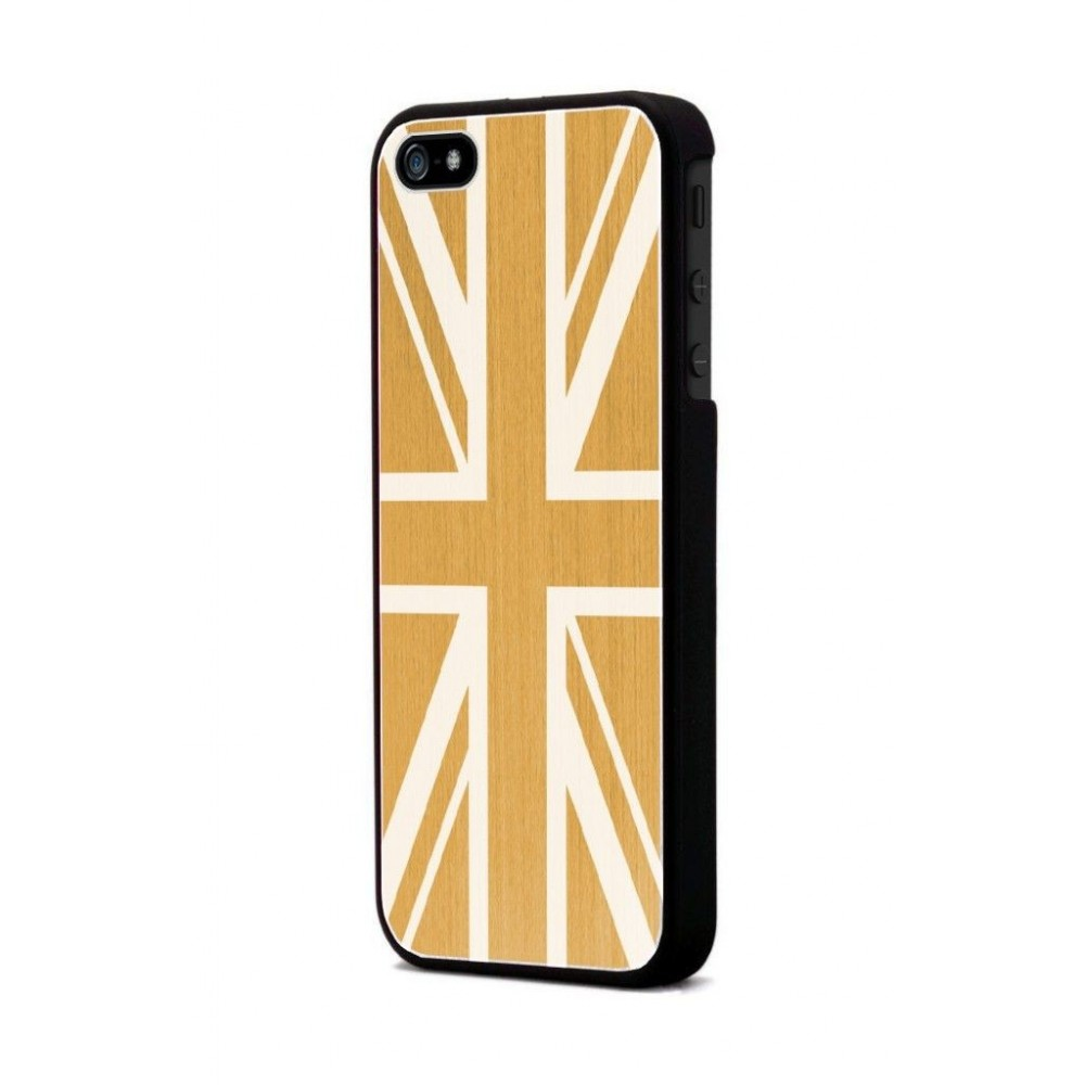 Coque Moxie Aluminium brossé or drapeau Angleterre pour Apple iPhone 5