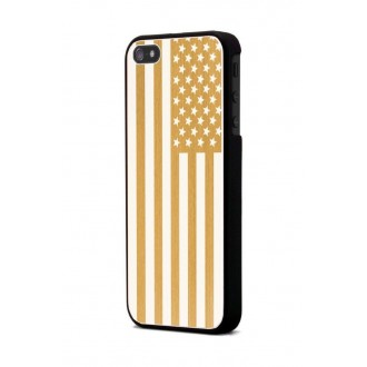 Coque Moxie Aluminium brossé or drapeau USA pour Apple iPhone 5