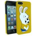 Coque sous Licence Lapins Crétins Foot Ballon Jaune + film de protection pour Apple iPhone 5