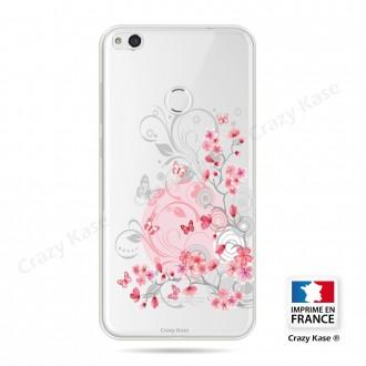 Coque pour Huawei P8 Lite 2017 souple Fleurs et papillons