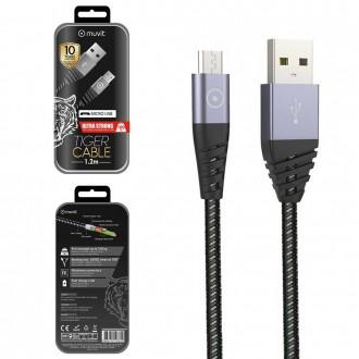 Câble Micro USB ultra résistant 1,2 mètres Tiger Cable