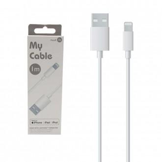 Câble Lightning MFI 1 mètre blanc My Cable