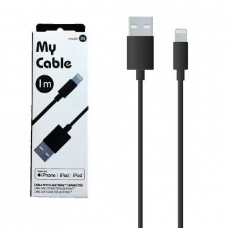 Câble Lightning MFI 1 mètre noir My Cable