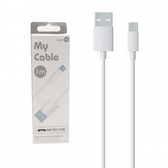 Câble Micro USB 1 mètre (2 A) blanc My Cable