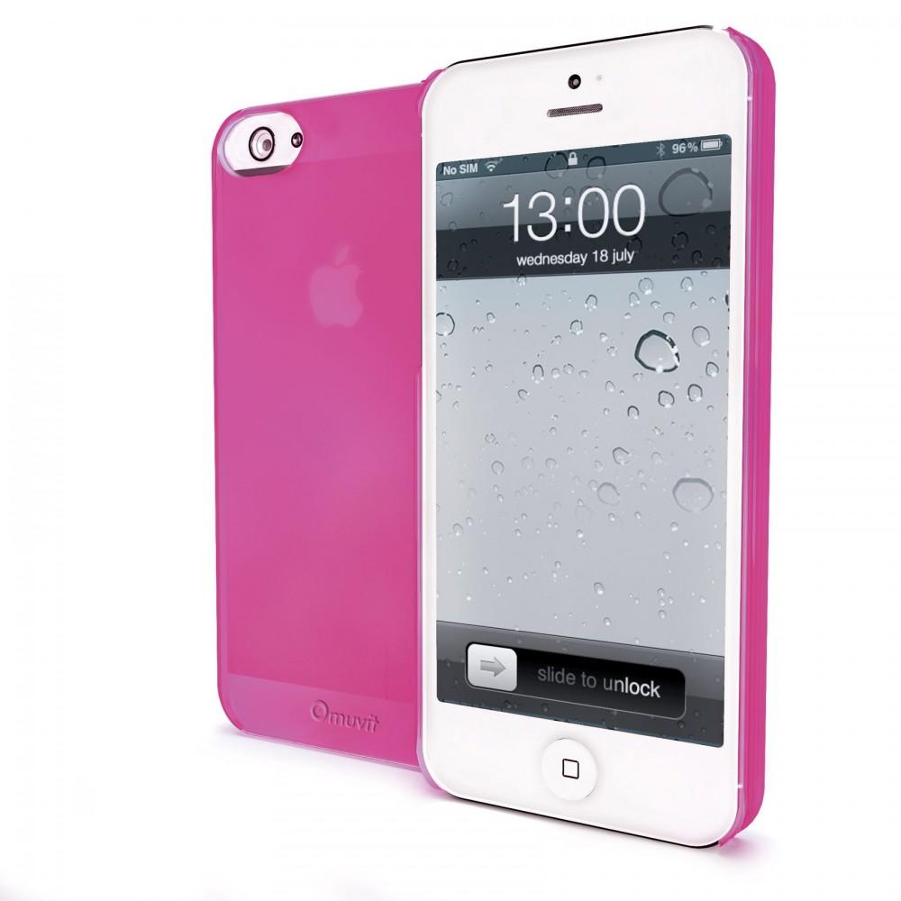 Coque Muvit iMatt ultra fine rose pour Apple iPhone 5