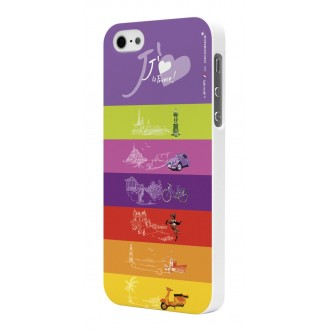 Coque Rubber White Incidence Modèle Love France pour Apple iPhone 5