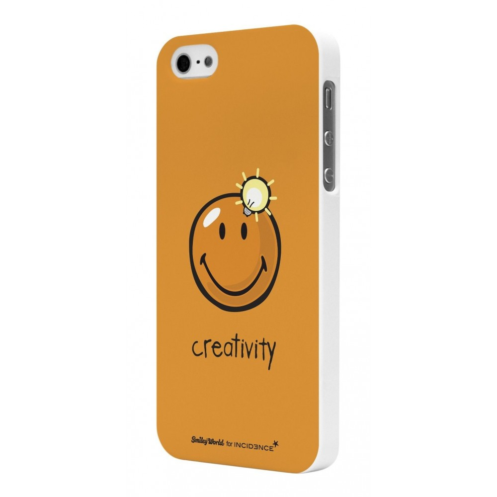 Coque Smiley Rubber orange pour modèle Creativity By Moxie pour Apple iPhone 5