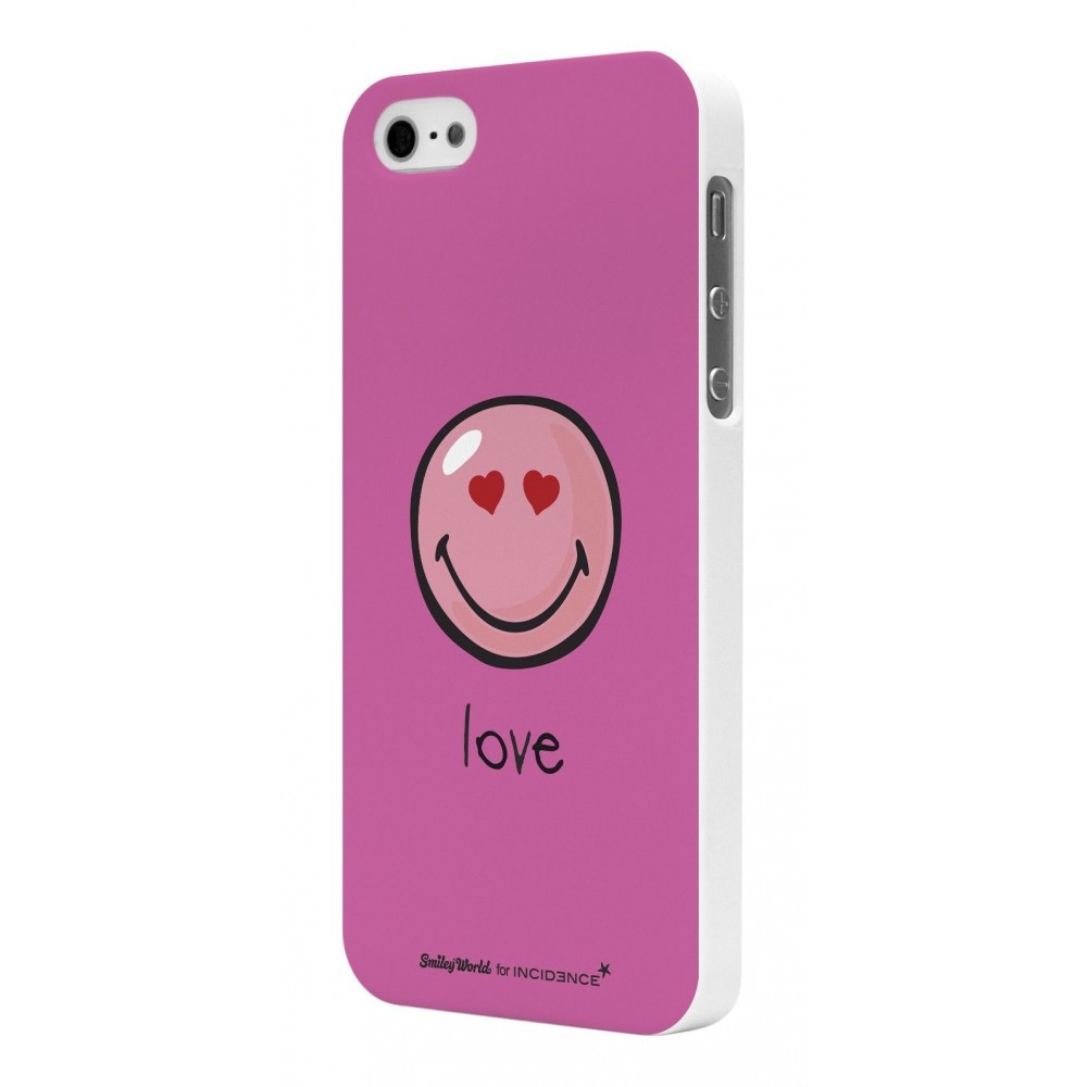 Coque Smiley Rubber rose modèle Harmony By Moxie pour Apple iPhone 5