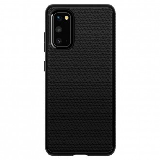 Coque compatible Galaxy S20 Ultra Liquid Air noir mat - Spigen
