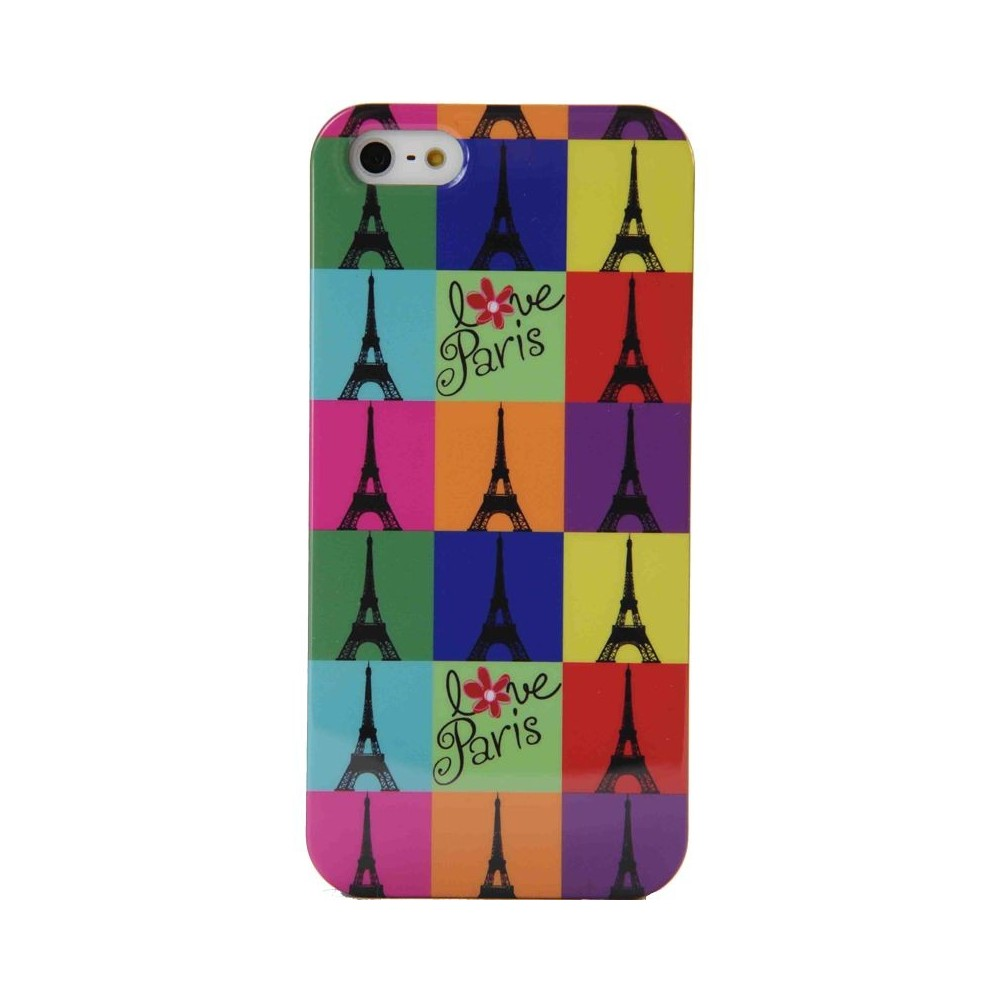 Coque Akashi Eiffel Colors pour Apple iPhone 5
