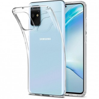Coque compatible Samsung S20 Plus Liquid Crystal transparente - Spigen