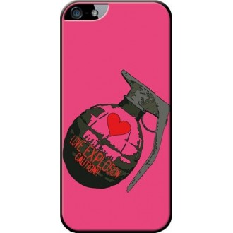 Coque made in France grenade rose pour Apple iPhone 5