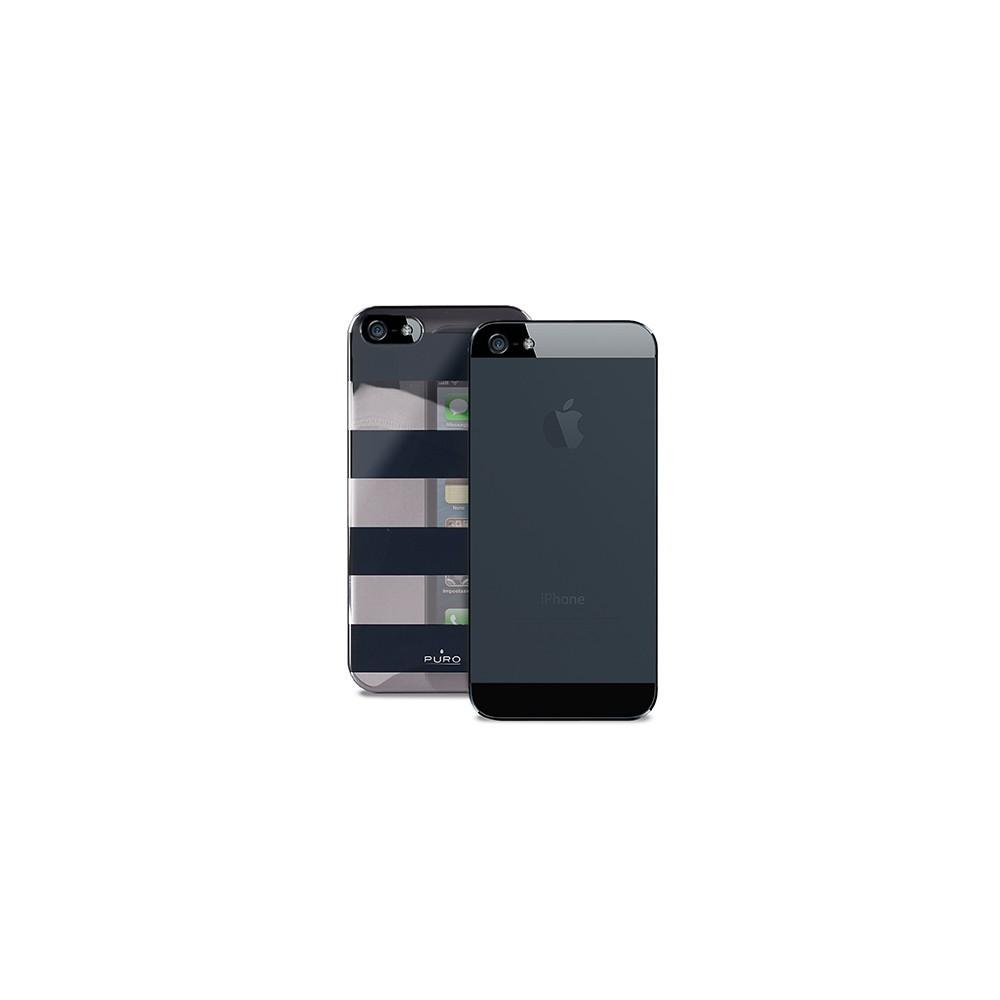 Coque Puro rayures noires pour Apple iPhone 5/5S