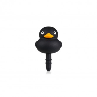 Bouton anti poussière canard noir prise audio 3.5mm