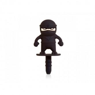 Bouton anti poussière ninja prise audio 3.5mm