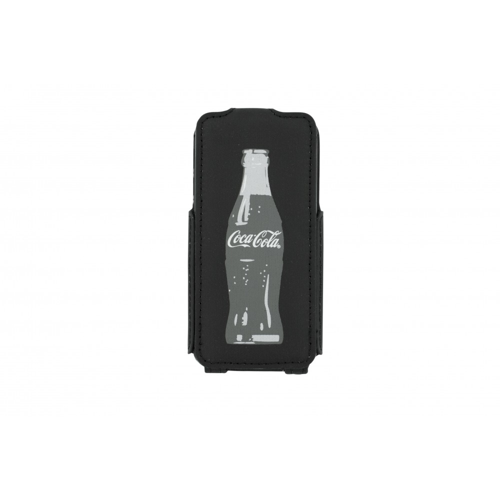 Etui Flip Coca-Cola grey Bottle pour Apple iPhone 5