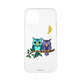 Coque pour iPhone 11 souple motif chouettes au clair de lune - Crazy Kase