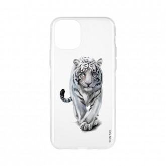 Coque pour iPhone 11 souple Tigre blanc - Crazy Kase