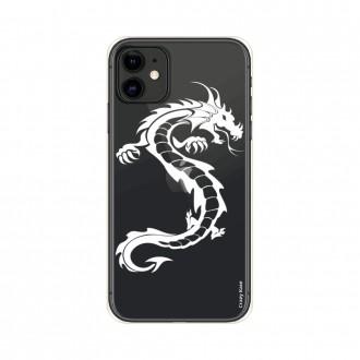 Coque pour iPhone 11 souple Dragon blanc - Crazy Kase