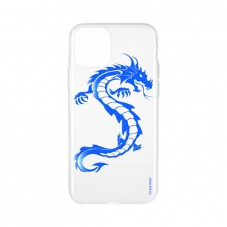 Coque pour iPhone 11 souple Dragon bleu - Crazy Kase