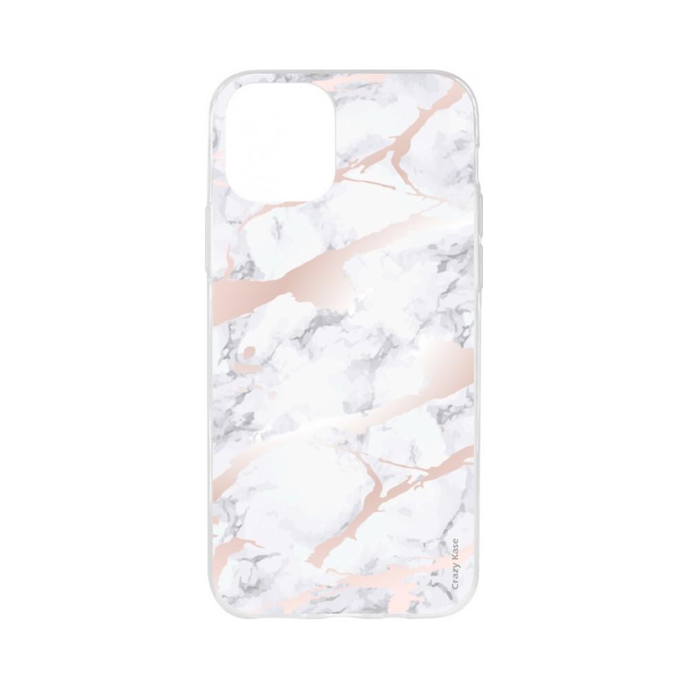 Coque pour iPhone 11 souple effet Marbre rose - Crazy Kase
