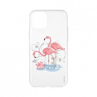 Coque pour iPhone 11 souple Flamant rose - Crazy Kase