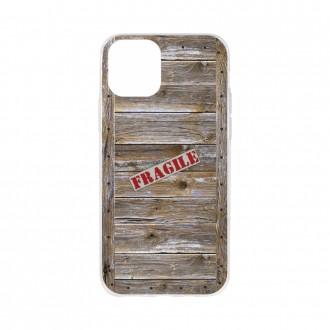 Coque pour iPhone 11 souple effet Caisse en bois - Crazy Kase