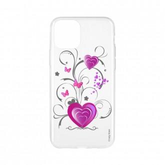 Coque pour iPhone 11 souple motif Coeur et papillon - Crazy Kase