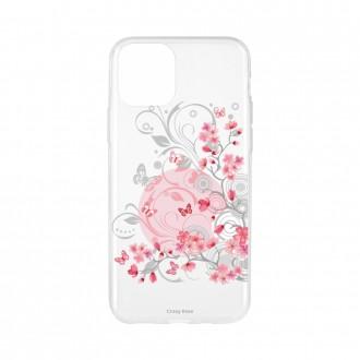 Coque pour iPhone 11 Pro souple Fleurs et papillons - Crazy Kase