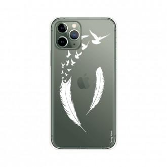 Coque pour iPhone 11 Pro souple motif Plume et envol d'oiseaux - Crazy Kase
