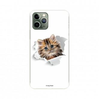 Coque pour iPhone 11 Pro souple motif Chat trop mignon - Crazy Kase