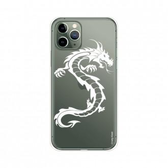 Coque pour iPhone 11 Pro souple Dragon blanc - Crazy Kase