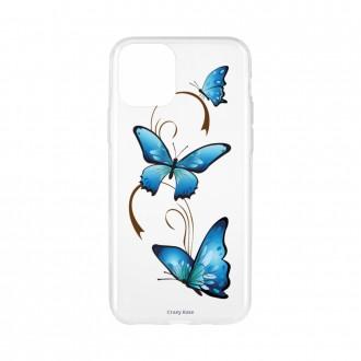 Coque pour iPhone 11 Pro souple motif Papillon sur Arabesque - Crazy Kase