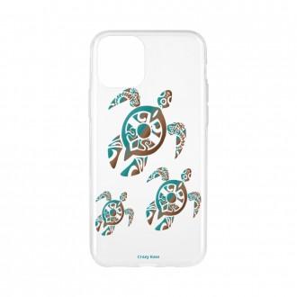 Coque pour iPhone 11 Pro souple motif Famille Tortue - Crazy Kase