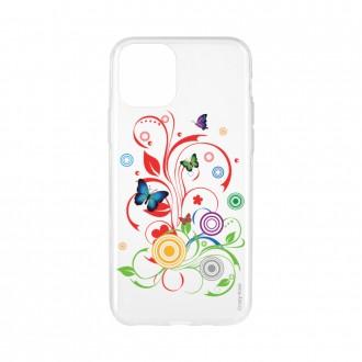 Coque pour iPhone 11 Pro souple motif Papillons et Cercles - Crazy Kase