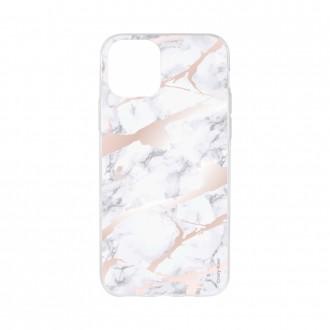 Coque pour iPhone 11 Pro Max souple effet Marbre rose - Crazy Kase