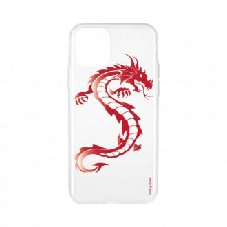 Coque pour iPhone 11 Pro Max souple Dragon rouge - Crazy Kase