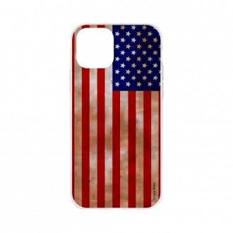 Coque pour iPhone 11 Pro Max souple motif Drapeau Américain - Crazy Kase
