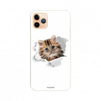 Coque pour iPhone 11 Pro Max souple motif Chat trop mignon - Crazy Kase