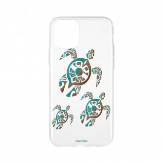 Coque pour iPhone 11 Pro Max souple motif Famille Tortue - Crazy Kase