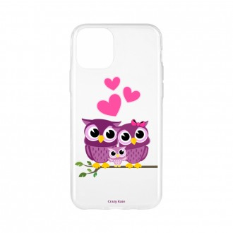 Coque pour iPhone 11 Pro Max souple motif Famille Chouette - Crazy Kase